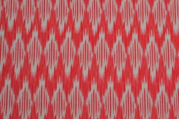Lycra motifs abstraits rouges et blancs