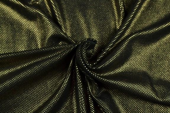 Maille jersey noire et dorée