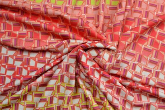 Jersey coloré motifs géométriques