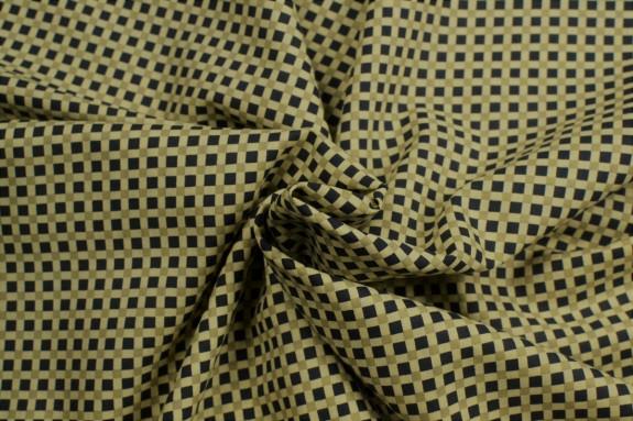Cotonnade petits carrés fond beige