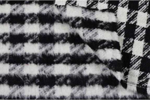 Tissu carreau noir et blanc