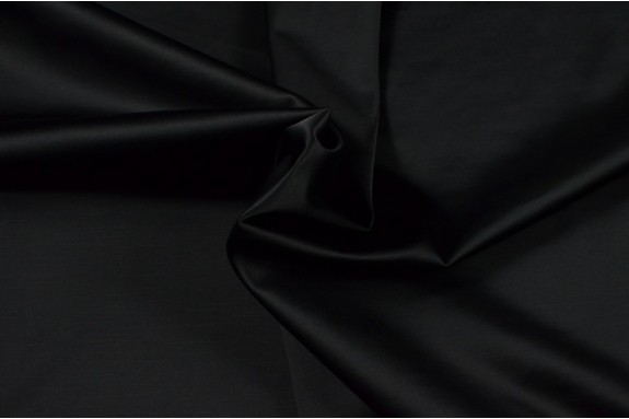 Satin lourd noir