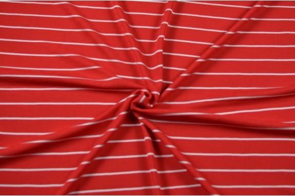Jersey rouge rayé écru