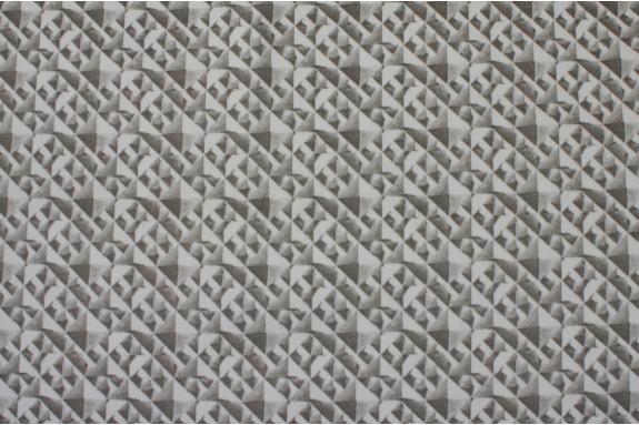 Velours imprimé gris
