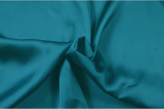 Satin lavé turquoise