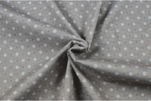 Jersey beige petit motif