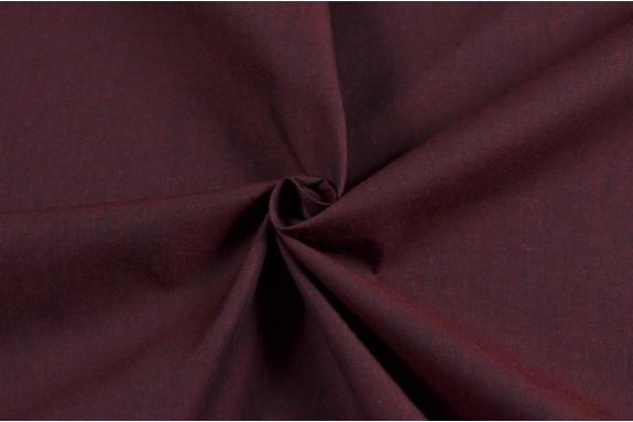 coton effet chintz rouge bordeaux
