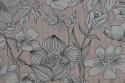 Coton ligné rose et fleuri