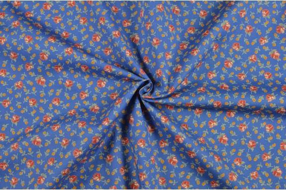 Coton fleuri bleu