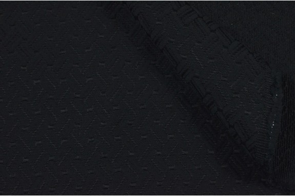 Coton mélangé structuré noir