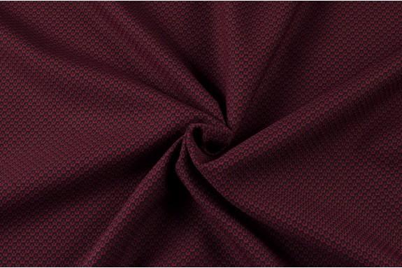 Tissu petit motif rouge bordeaux