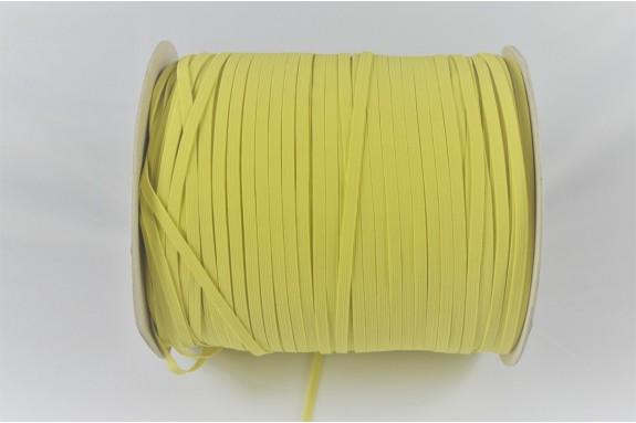 Bobine de 500 m élastique jaune 5mm