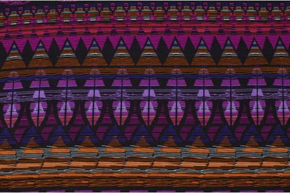 Jersey imprimé fond violet