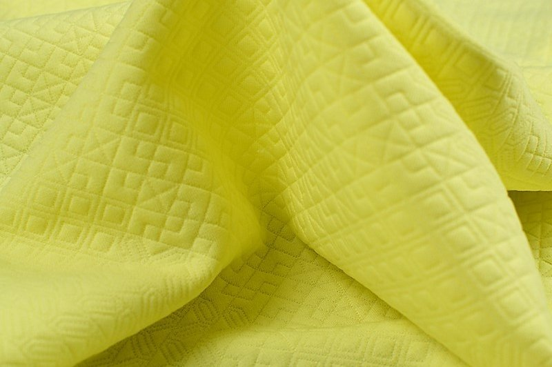 Maille Jacquard jaune