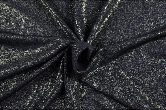 Maille jersey noir doré