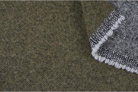 Tweed réversible kaki