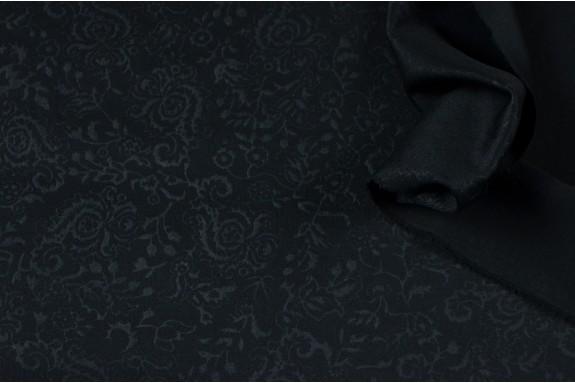 Maille Jacquard arabesque noire