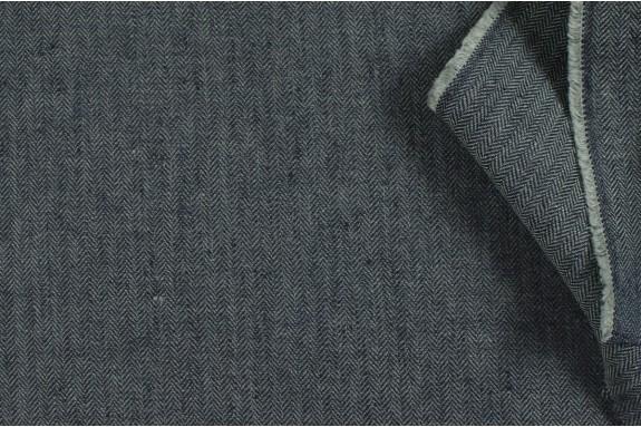 Lin chevron gris
