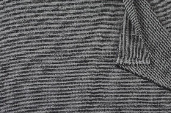 Tissu chiné noir et blanc