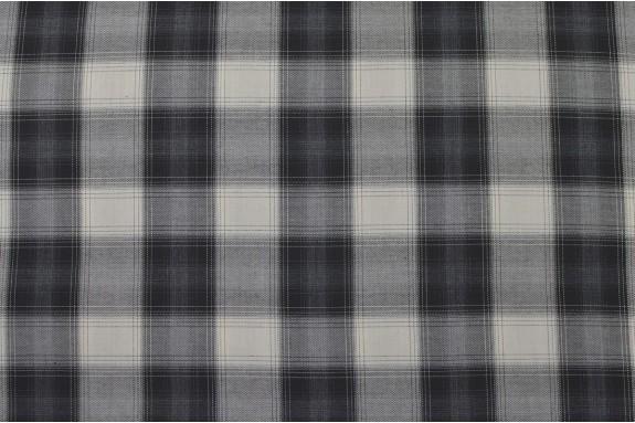 Tissu à carreaux écru et noir