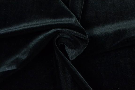 Velours lisse noir