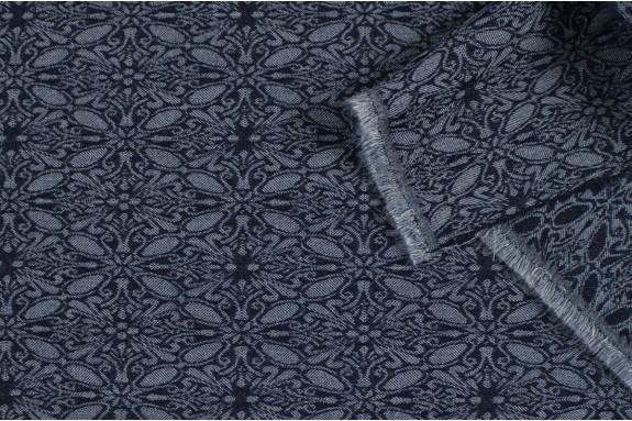 Tissu Jacquard stretch coloris jeans