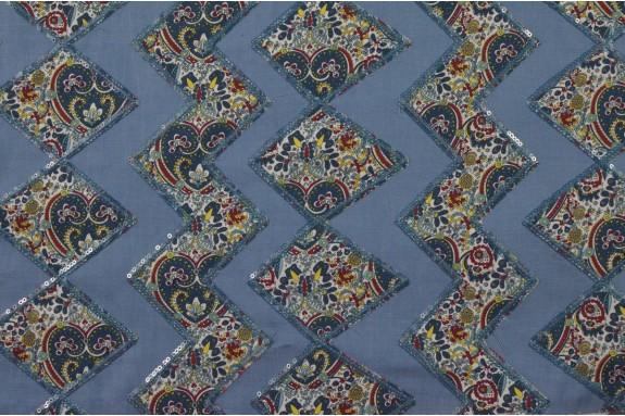 Coton bleu application cachemire