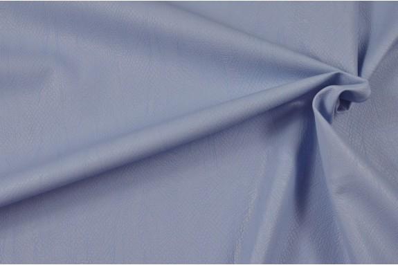 Simili cuir bleu clair motif serpent