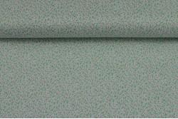 Coton petit motif vert