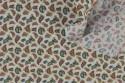 Coton motif cachemire fond blanc