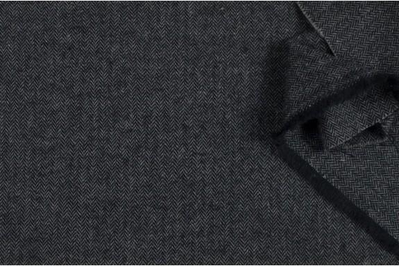 Lainage chevron gris et noir