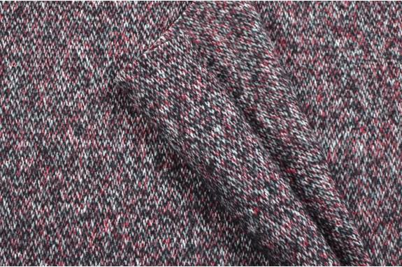 Tweed Italien marron-gris et bordeaux