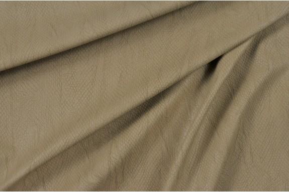 Simili cuir beige motif serpent