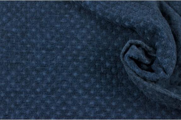 Maille duveteuse bleue