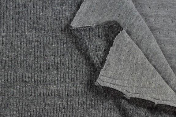 Tricot doublé jersey gris