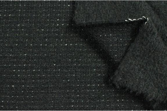 Lainage noir points fantaisies blancs