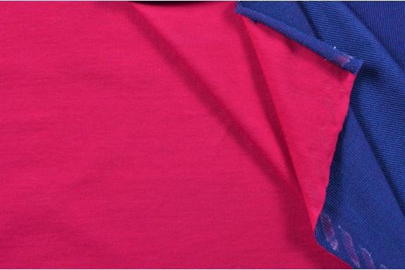 Jersey de coton mélangé rose