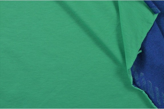 Jersey de coton mélangé vert printemps