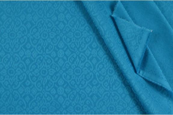 Damassé stretch turquoise