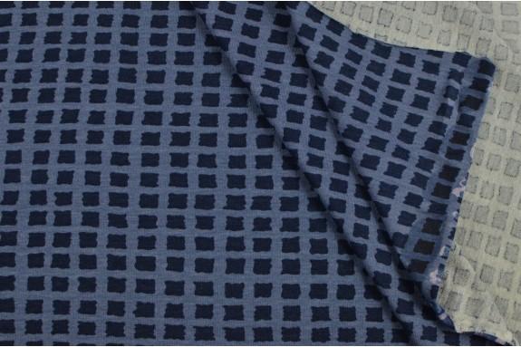 Jersey petits rectangles bleus