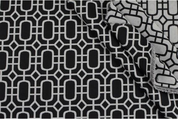 Coton melangé noir et blanc