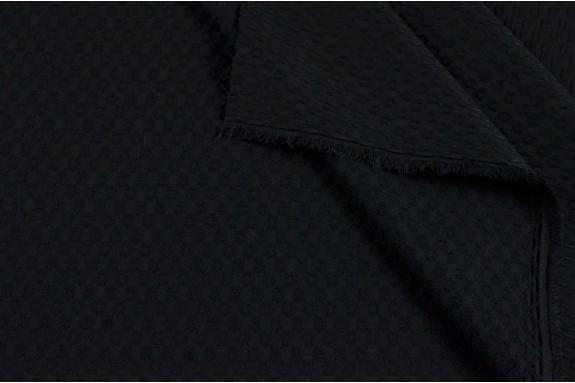 Piqué de coton noir