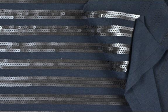 Jersey bleu à sequins