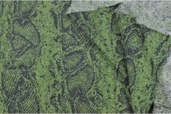 Tricot vert motif serpent