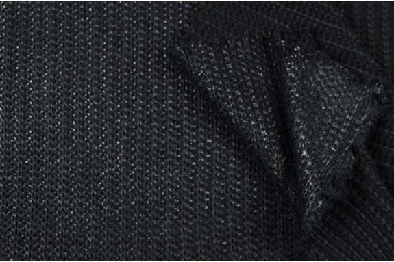 Tricot côtelé scintillant noir