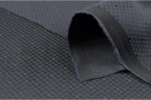 Jacquard stretch bleu noir