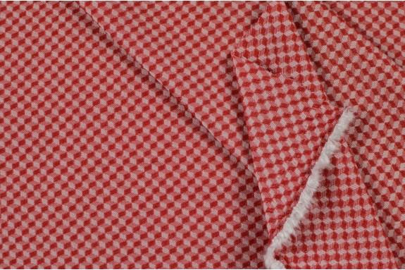Bengaline motifs géométriques rouges