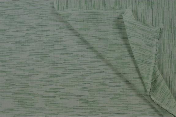 Voile de coton vert chiné