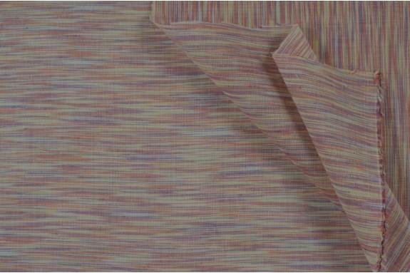 Voile de coton abricot violet