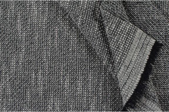 Tissu noir chiné gaufré